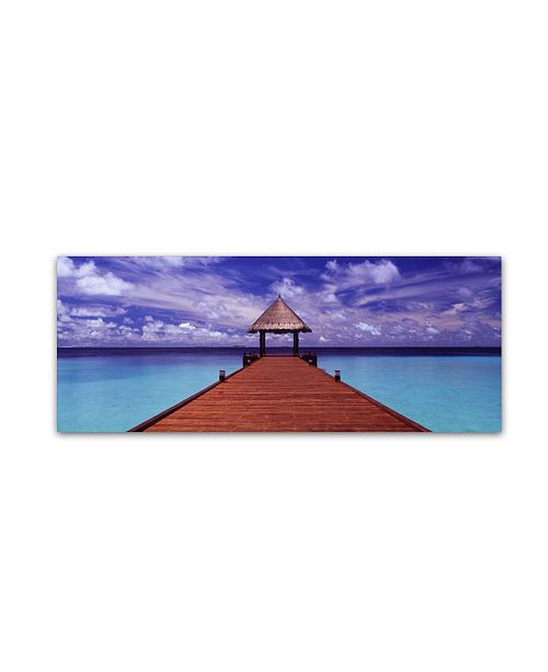 "Trademark Global David Evans 'Arrivals-Jumeirah Vittaveli' Canvas Art - 6"" x 19"""