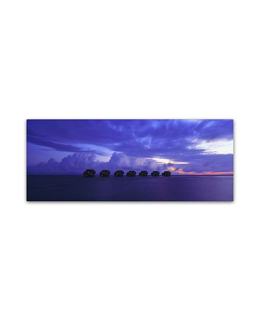 "Trademark Global David Evans 'End of Day-Maldives' Canvas Art - 8"" x 24"""