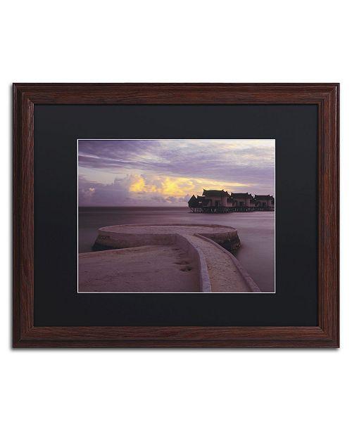 "Trademark Global David Evans 'Jumeirah Vittaveli-Maldives' Matted Framed Art - 16"" x 20"""