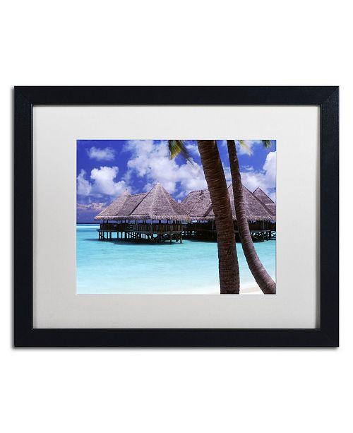 "Trademark Global David Evans 'The Bar-Gili Lankanfushi' Matted Framed Art - 16"" x 20"""