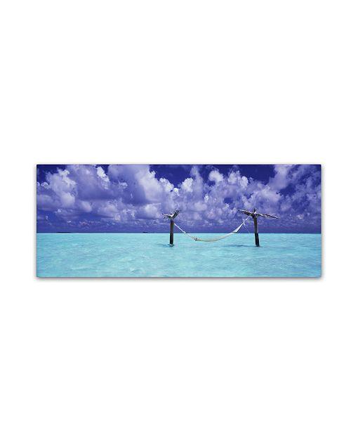 "Trademark Global David Evans 'The Hammock 3' Canvas Art - 10"" x 32"""