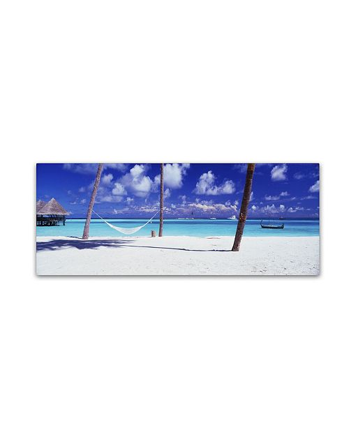 "Trademark Global David Evans 'View for One-Maldives' Canvas Art - 10"" x 32"""