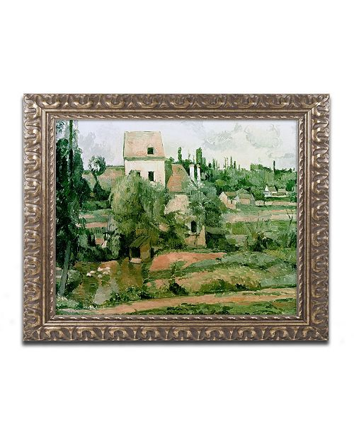 "Trademark Global Paul Cezanne 'Moulin de lad Couleuvre Pontoise' Ornate Framed Art - 11"" x 14"""