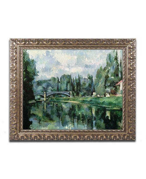 "Trademark Global Paul Cezanne 'The Banks of the Marne at Creteil' Ornate Framed Art - 11"" x 14"""