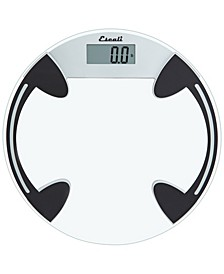 Corp Glass Platform Bathroom Scale, 400lb