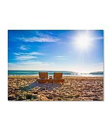 """Preston 'Florida Beach Chair' Canvas Art - 14"""" x 19"""""""