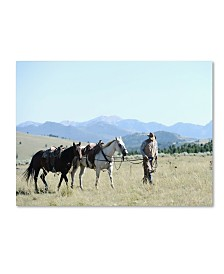 "Preston 'Montana Horse Rancher' Canvas Art - 14"" x 19"""