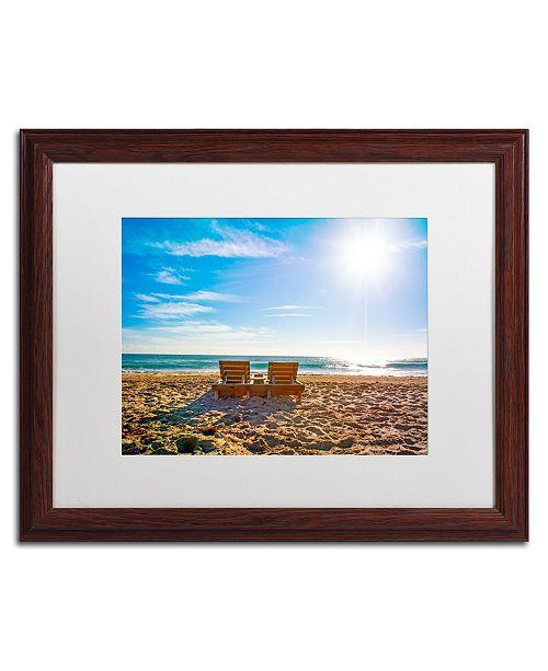"""Trademark Global Preston 'Florida Beach Chair' Matted Framed Art - 16"""" x 20"""""""