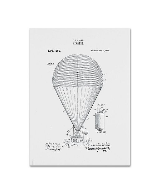 """Trademark Global Claire Doherty 'Airship Patent 1913 White' Canvas Art - 18"""" x 24"""""""
