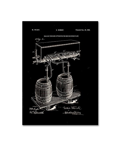 """Trademark Global Claire Doherty 'Art Of Brewing Beer Patent Black' Canvas Art - 35"""" x 47"""""""