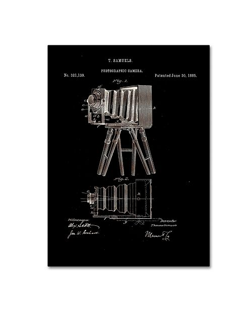 "Trademark Global Claire Doherty 'Photographic Camera Patent 1885 Black' Canvas Art - 18"" x 24"""