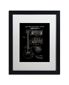 """Claire Doherty '1955 Mccarty Gibson Guitar Black' Matted Framed Art - 16"""" x 20"""""""