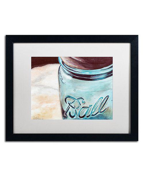 "Trademark Global Jennifer Redstreake 'Ball Jar' Matted Framed Art - 16"" x 20"""