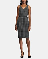368b2515 Lauren Ralph Lauren Plaid-Print Belted Jacquard Dress