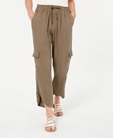 American Rag Juniors' Tulip-Hem Cargo Pants, Created for Macy's