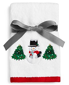 Martha Stewart Collection Snowman 2-Pc. Cotton Fingertip Set, Created for Macy's
