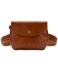 Marini Woven Leather Belt Bag