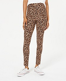 Juniors' Printed High-Waist Leggings