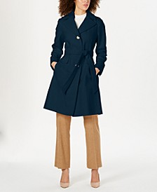 Single-Breasted Hooded Coat