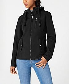 Juniors' Water Resistant Hooded Jacket