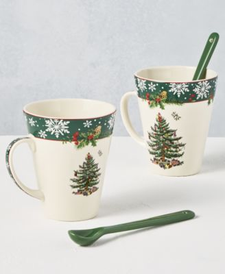 Christmas Tree 2019 Annual 4-Pc. Mug & Spoon Set, Created for Macy's