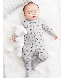 Baby Boys 1-Pc. Dinosaur-Print Footed Pajama