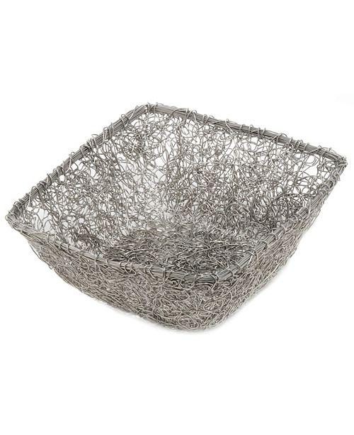 "St. Croix KINDWER 11"" Square Twist Wire Mesh Basket"
