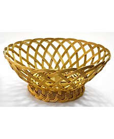 "KINDWER 10"" Gilded Woven Aluminum Basket"