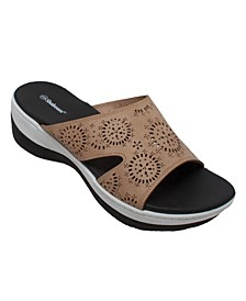 Women's Comfort Curved Slide Sandals