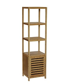 Bamboo Natural Spa 5 shelf Tower/Cabinet, Quick Ship