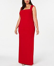 Plus Size Cutout-Back Gown