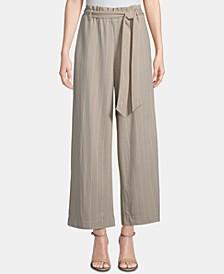 Tie-Waist Wide-Leg Pants