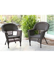 Jeco Wicker Chair - Set of 2