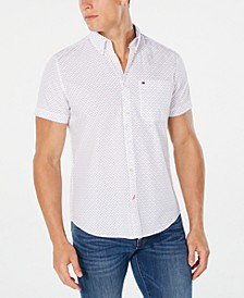Men's Tate Slim-Fit Print Short Sleeve Shirt