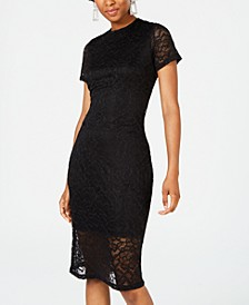 Juniors' Lace Bodycon Dress, Created for Macy's