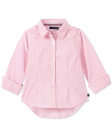 Baby Girls Cotton Striped Shirt