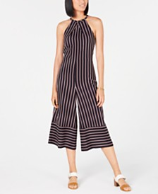 Tommy Hilfiger Cropped Wide-Leg Jumpsuit, Created for Macy's