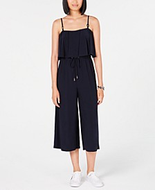 Cropped Popover Jumpsuit, Created for Macy's