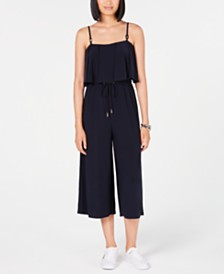Tommy Hilfiger Cropped Popover Jumpsuit, Created for Macy's