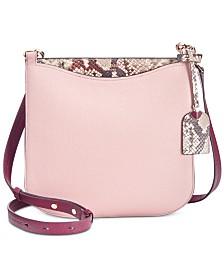 kate spade new york Margaux Snake-Embossed Leather Crossbody