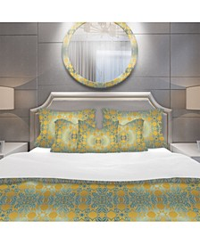 Designart 'Glam Flowers Decorative' Glam Duvet Cover Set - King
