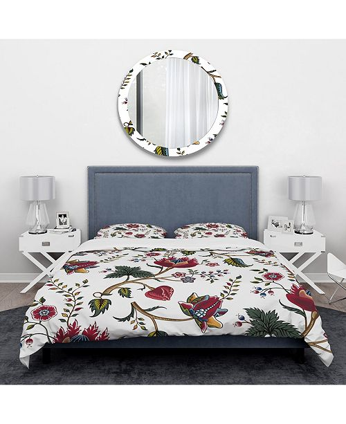 Design Art Designart 'Indian Floral Pattern' Tropical Duvet Cover Set - Queen