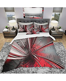 Designart 'Fractal 3D Deep Into Middle' Modern and Contemporary Duvet Cover Set - Twin