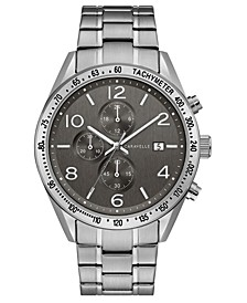 Men's Chronograph Stainless Steel Bracelet Watch 44mm