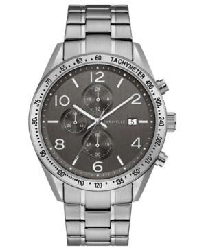 Designed by Bulova Men's Chronograph Stainless Steel Bracelet Watch 44mm
