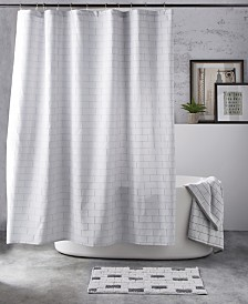 DKNY Subway Tile Shower Curtain