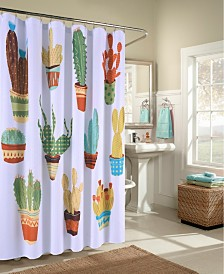 M.Style 11 Happy Cacti  Shower Curtain