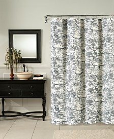 M.Style Elk Toile Shower Curtain