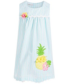 Little Girls Seersucker Pineapple Dress