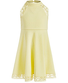 Bonnie Jean Little Girls Textured Halter-Neck Dress